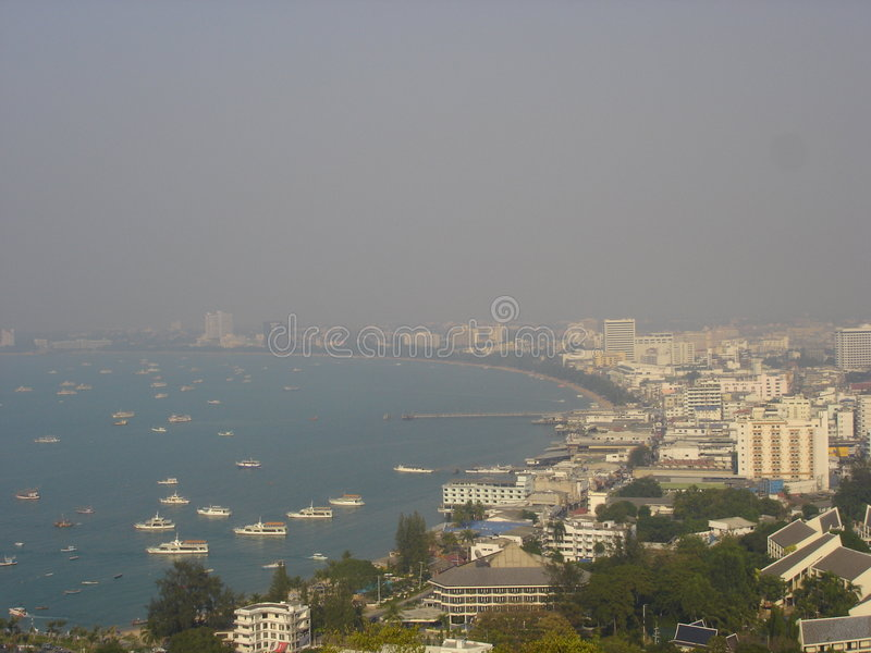 εναέρια όψη της Ταϊλάνδης Pattaya Στοκ εικόνες με δικαίωμα ελεύθερης χρήσης