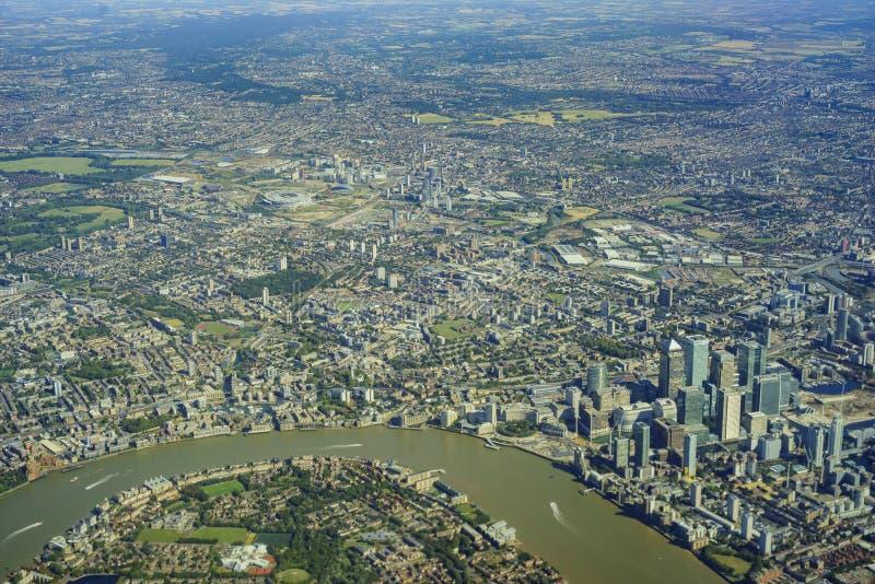 εναέρια όψη του Λονδίνου στοκ φωτογραφίες