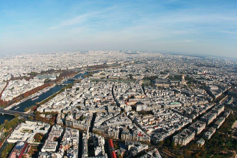 εναέρια όψη του Παρισιού στοκ εικόνα με δικαίωμα ελεύθερης χρήσης