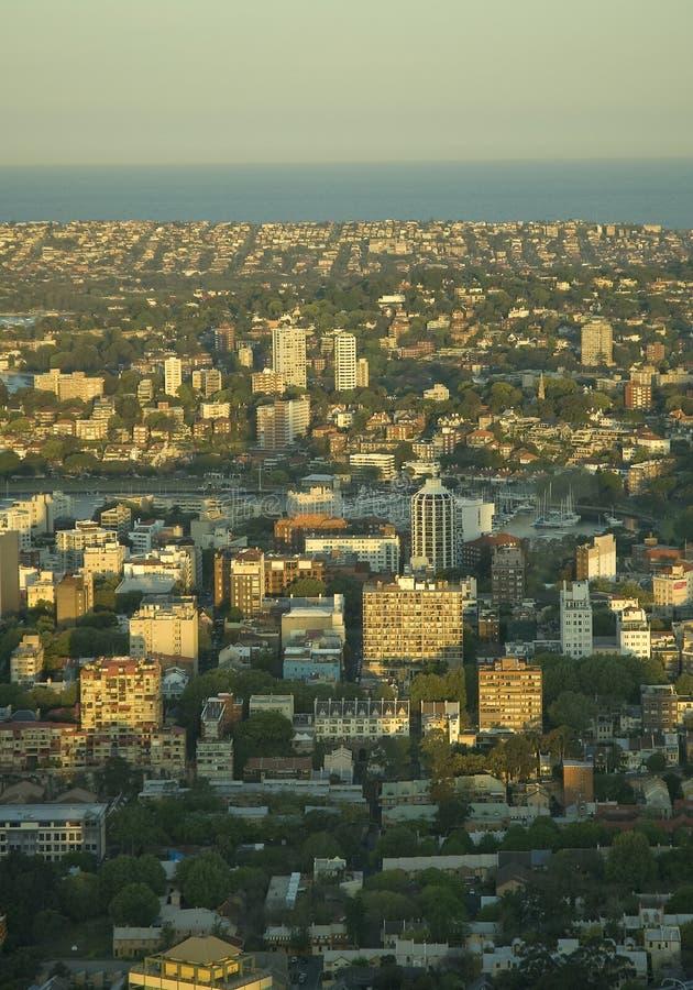 εναέρια όψη του Σύδνεϋ στοκ εικόνα με δικαίωμα ελεύθερης χρήσης