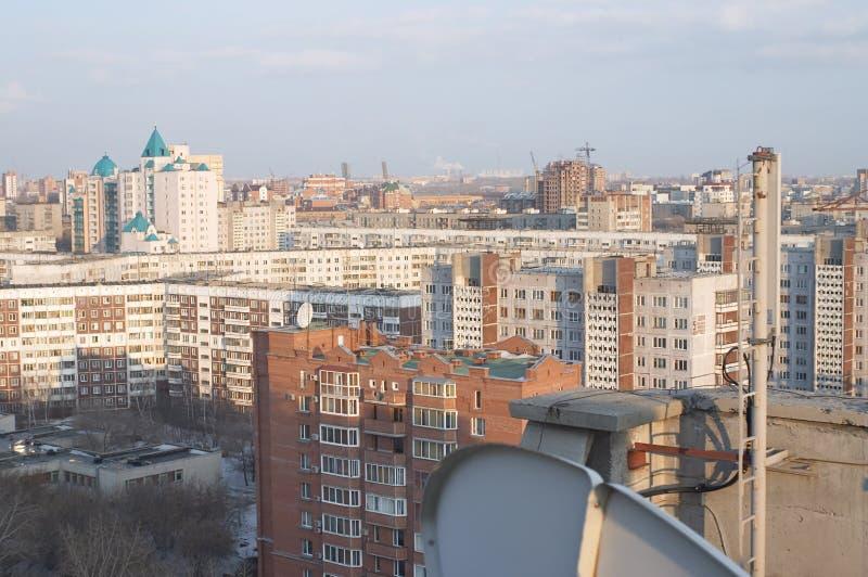 εναέρια όψη του Novosibirsk στοκ φωτογραφίες