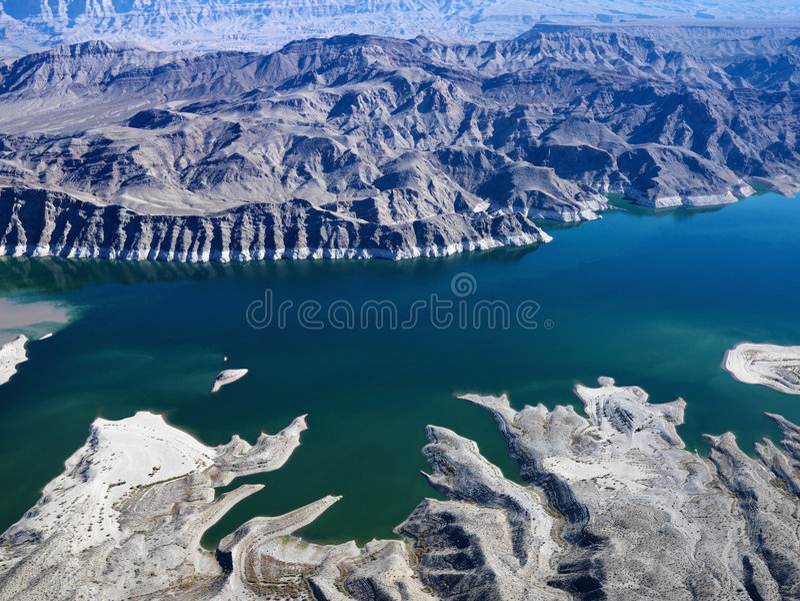 εναέρια όψη υδρομελιών λιμνών στοκ φωτογραφία με δικαίωμα ελεύθερης χρήσης