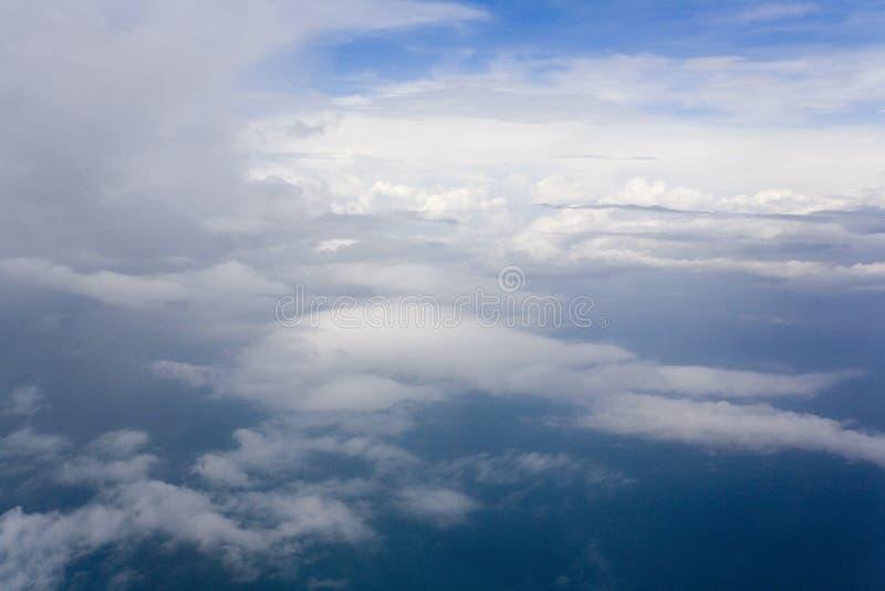 εναέρια όψη cloudscape στοκ εικόνα με δικαίωμα ελεύθερης χρήσης