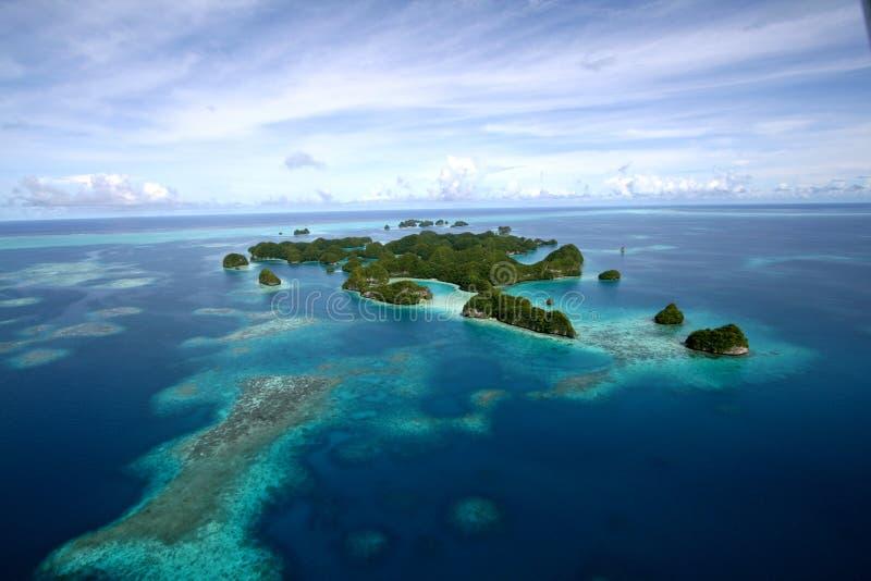 εναέρια όψη Palau νησιών στοκ εικόνες