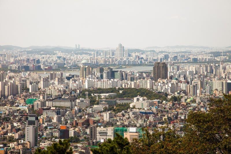 Εναέριες απόψεις της Σεούλ, Νότια Κορέα στοκ φωτογραφίες με δικαίωμα ελεύθερης χρήσης