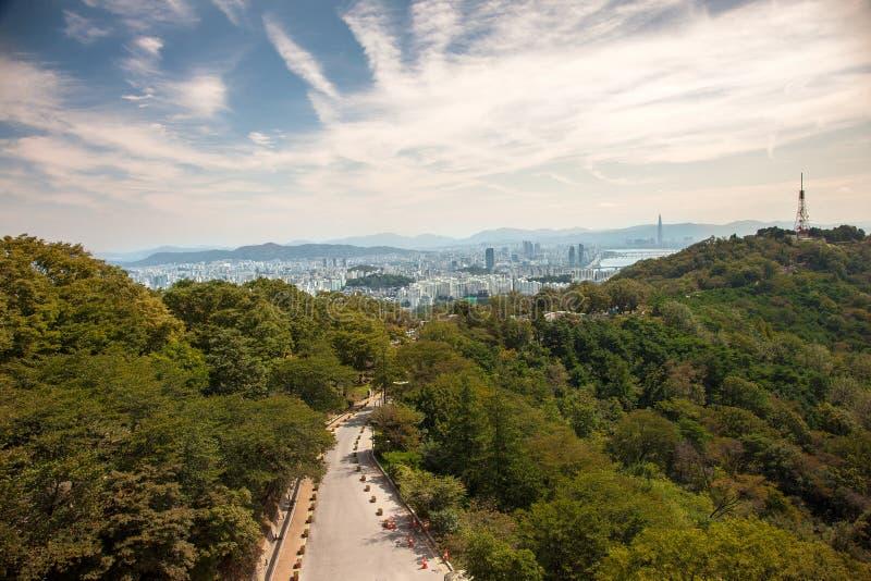 Εναέριες απόψεις της Σεούλ, Νότια Κορέα στοκ φωτογραφία με δικαίωμα ελεύθερης χρήσης
