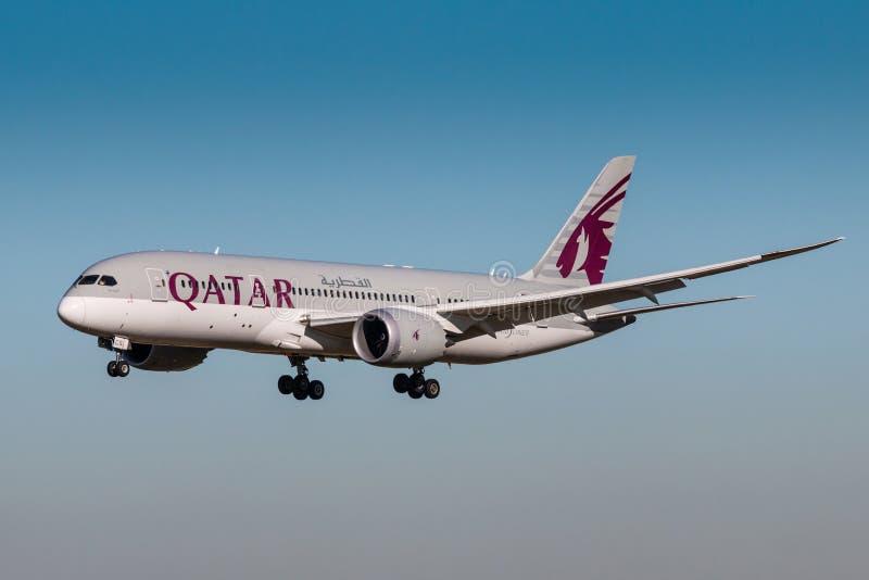 Εναέριοι διάδρομοι του Κατάρ στοκ εικόνες