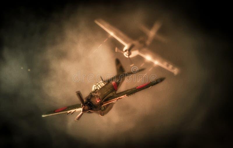 Εναέριος αγώνας βασισμένος στην επίθεση στο Pearl Harbor   ΗΠΑ εναντίον Ιαπωνία στοκ εικόνα