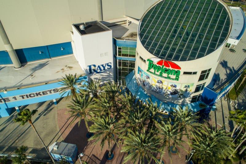Εναέριος ευρύς τομέας Αγία Πετρούπολη Φλώριδα ΗΠΑ Tropicana εικόνας γωνίας στοκ φωτογραφία με δικαίωμα ελεύθερης χρήσης