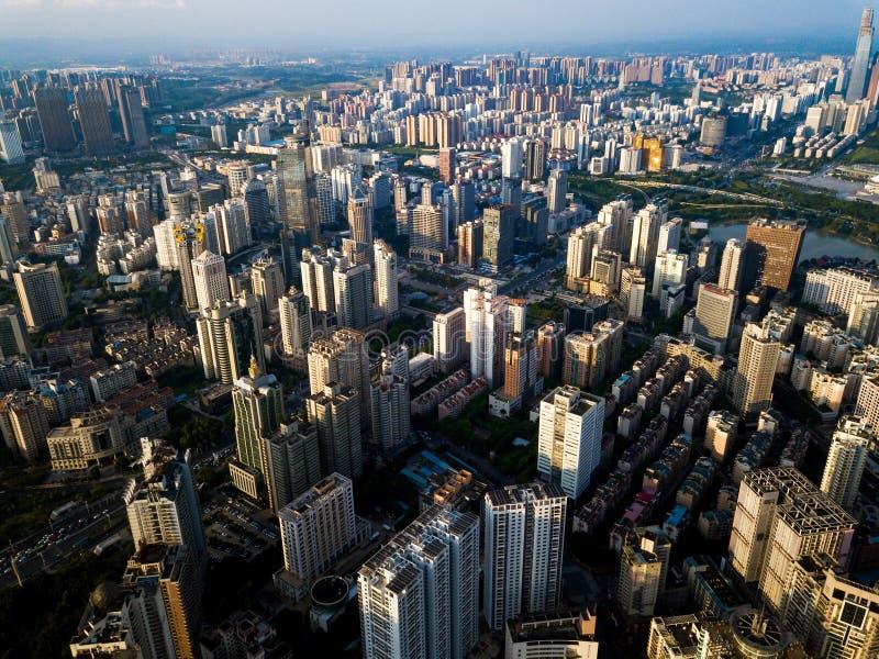 Εναέριος ορίζοντας Nanning στην επαρχία Guangxi της Κίνας στοκ φωτογραφίες