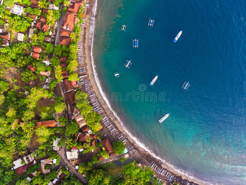 Εναέριος πυροβολισμός του νησιού του Μπαλί στοκ φωτογραφίες με δικαίωμα ελεύθερης χρήσης