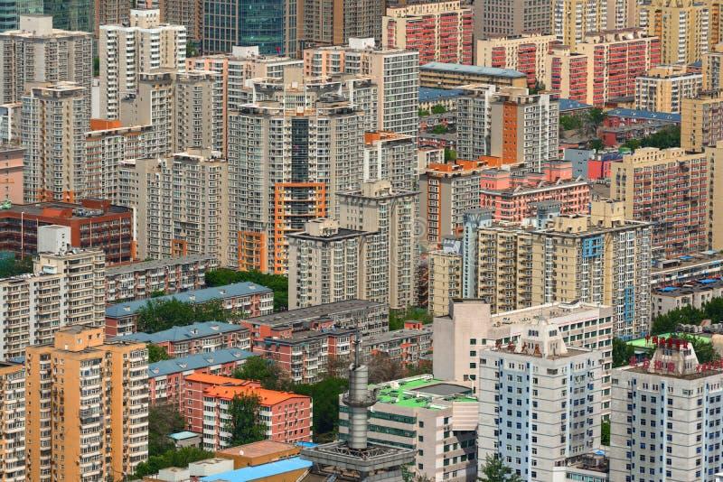 Εναέριος πυροβολισμός του Πεκίνου άνωθεν στοκ εικόνες