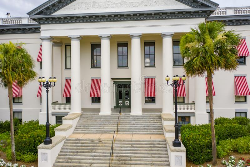 Εναέριο κράτος Capitol της Φλώριδας φωτογραφιών που χτίζει Tallahassee στοκ φωτογραφία