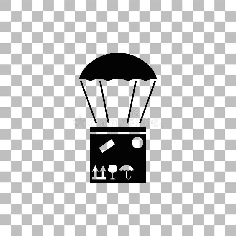 Εναέριο μετα εικονίδιο παράδοσης επίπεδο ελεύθερη απεικόνιση δικαιώματος