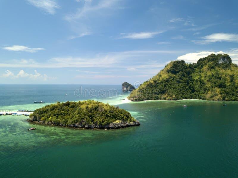 Εναέριο νησί Talay Waek άποψης σε Krabi, Ταϊλάνδη στοκ φωτογραφία