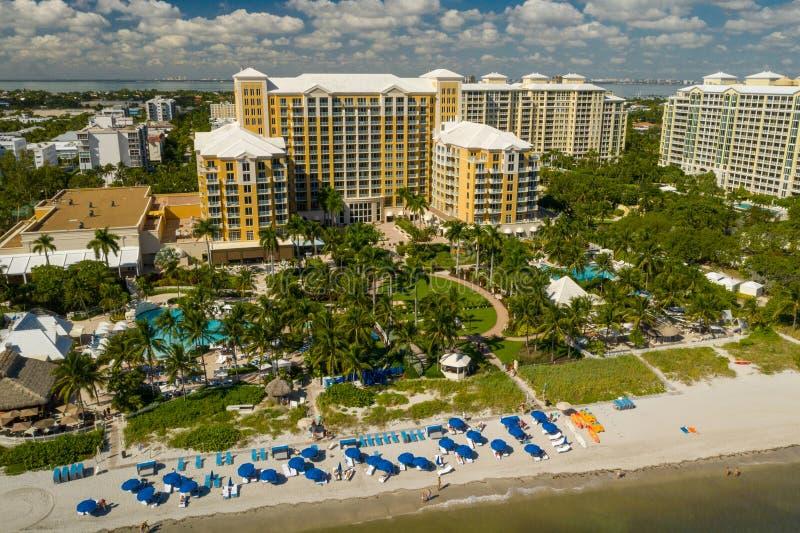 Εναέριο ξενοδοχείο βασικό Biscayne Μαϊάμι Φλώριδα ΗΠΑ Ritz Carlton φωτογραφιών στοκ φωτογραφία με δικαίωμα ελεύθερης χρήσης