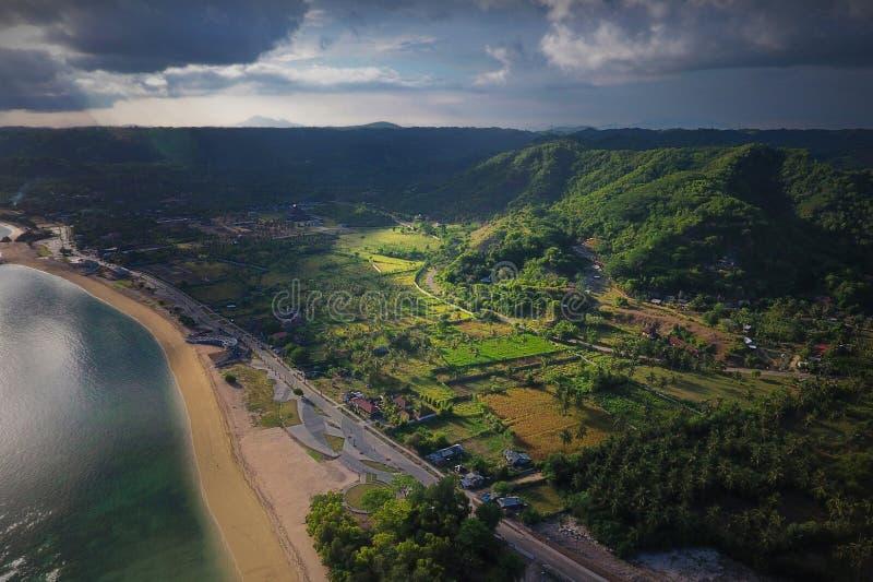 Εναέριο πάρκο παραλιών Kuta άποψης στοκ εικόνα