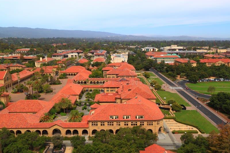 Εναέριο Πανεπιστήμιο του Stanford άποψης στοκ εικόνα με δικαίωμα ελεύθερης χρήσης