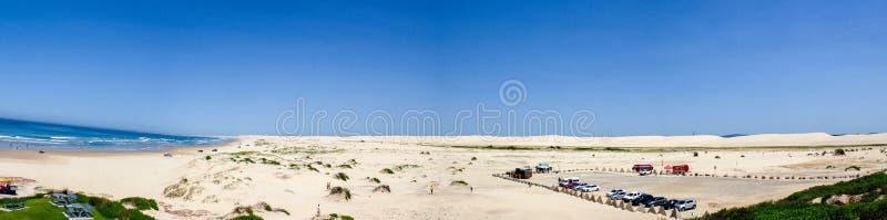 Εναέριο πανόραμα της παραλίας Stockton στη μεσημβρία Κόλπος της Anna, Νότια Νέα Ουαλία, Αυστραλία στοκ φωτογραφίες με δικαίωμα ελεύθερης χρήσης