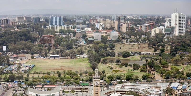Εναέριο πανόραμα του Ναϊρόμπι στοκ φωτογραφία με δικαίωμα ελεύθερης χρήσης