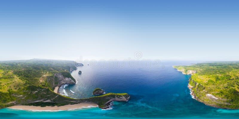 Εναέριο πανόραμα του νησιού στοκ φωτογραφία με δικαίωμα ελεύθερης χρήσης