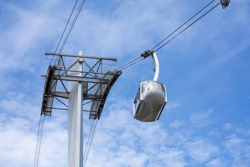 Εναέριο τραμ του Πόρτλαντ για το δημόσιο μέσο μεταφοράς στην υγεία του Όρεγκον και το πανεπιστήμιο επιστήμης στοκ εικόνες