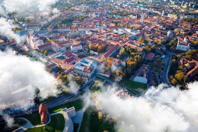 εναέριο vilnius όψης της Λιθουανίας στοκ εικόνα