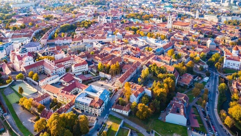 εναέριο vilnius όψης της Λιθουανίας στοκ φωτογραφία με δικαίωμα ελεύθερης χρήσης