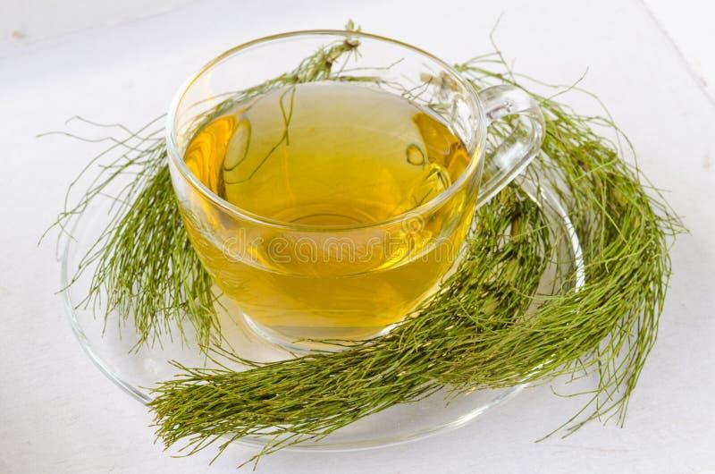 εναλλακτικός δίσκος biloba λουτρών μπαμπού ginkgo items medicine spa Βοτανικό τσάι αλογουρών στοκ φωτογραφία με δικαίωμα ελεύθερης χρήσης