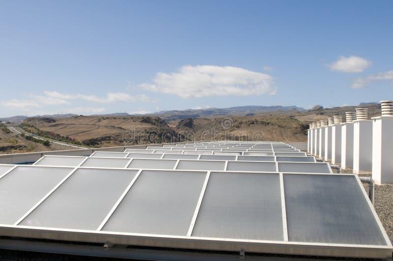 εναλλακτικός μπλε ecologic ουρανός επιτροπής ηλιακός στοκ φωτογραφίες με δικαίωμα ελεύθερης χρήσης