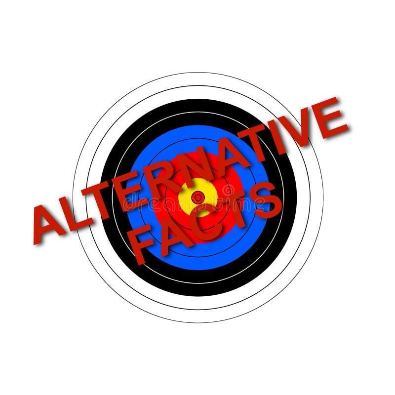 Εναλλακτικά γεγονότα στόχων στοκ φωτογραφίες με δικαίωμα ελεύθερης χρήσης