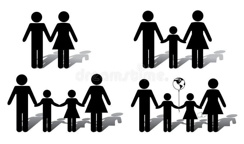 εναλλακτική οικογένεια διανυσματική απεικόνιση
