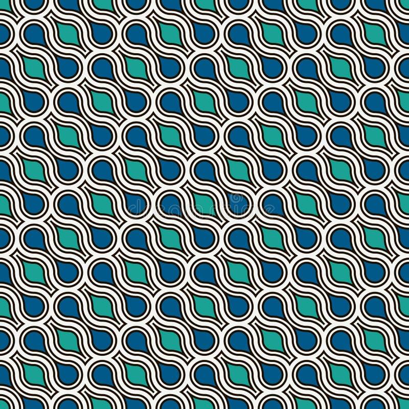 Ενδασφαλίζοντας υπόβαθρο tessellation αριθμών Επαναλαμβανόμενες γεωμετρικές μορφές Εθνική διακόσμηση μωσαϊκών ανασκοπήσεις Ασιάτη απεικόνιση αποθεμάτων