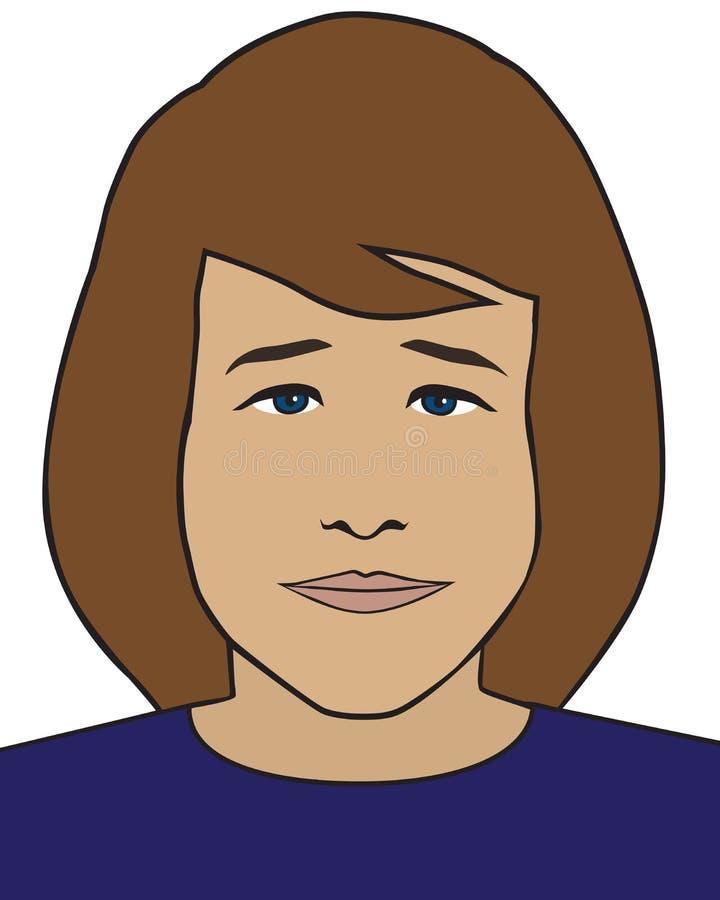 Ενδιαφερόμενη νέα διανυσματική γυναίκα διανυσματική απεικόνιση