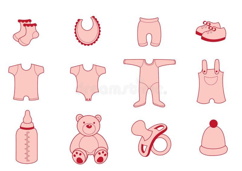 Ενδύματα μωρών ελεύθερη απεικόνιση δικαιώματος