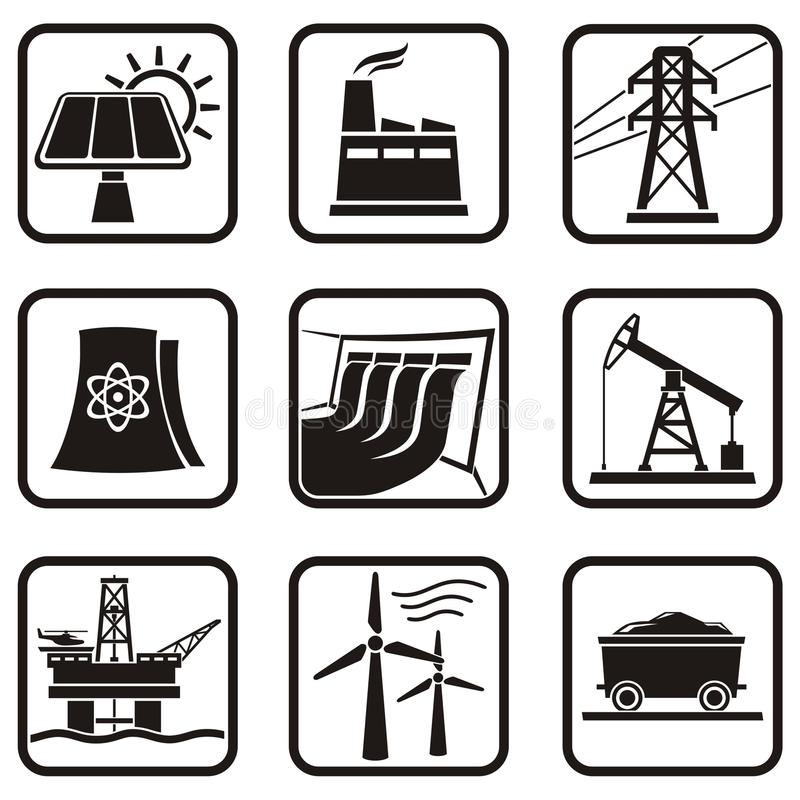ενεργειακά εικονίδια απεικόνιση αποθεμάτων