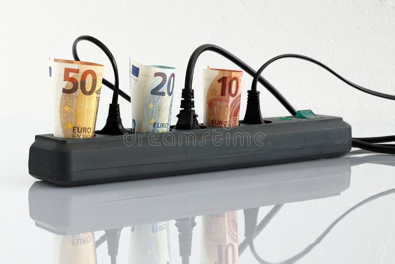 Ενεργειακά κόστη και τιμές ηλεκτρικής ενέργειας στοκ φωτογραφία