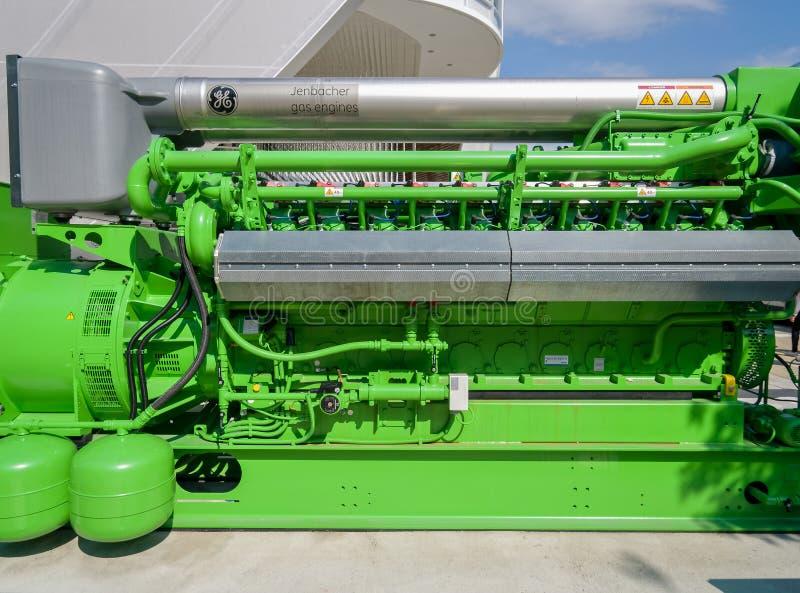 Ενεργειακή γεννήτρια μηχανών αερίου στοκ εικόνα με δικαίωμα ελεύθερης χρήσης