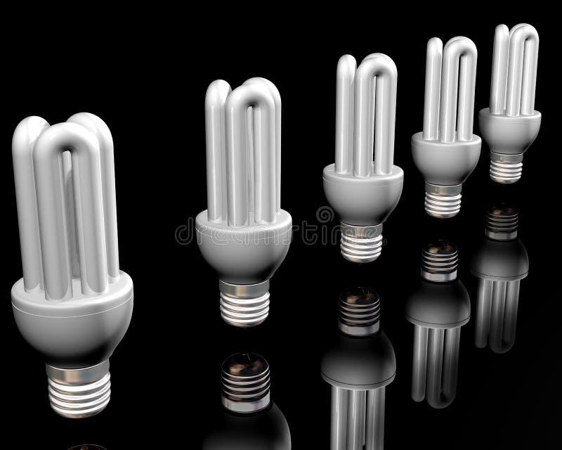 ενεργειακή ελαφριά αποταμίευση βολβών απεικόνιση αποθεμάτων