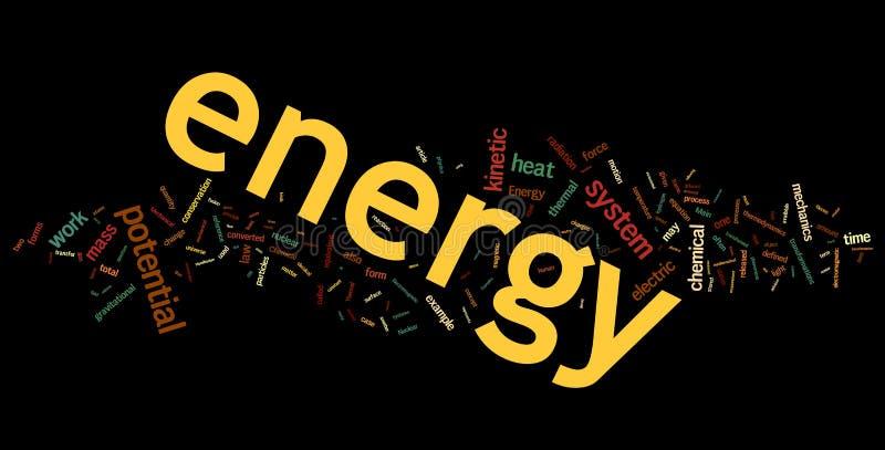 ενεργειακή λέξη σύννεφων διανυσματική απεικόνιση