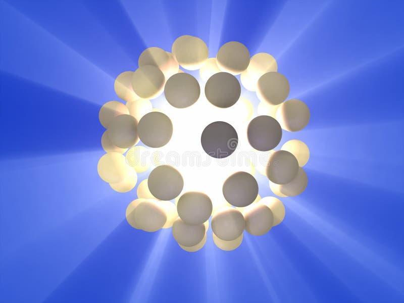 ενεργειακή σφαίρα διανυσματική απεικόνιση