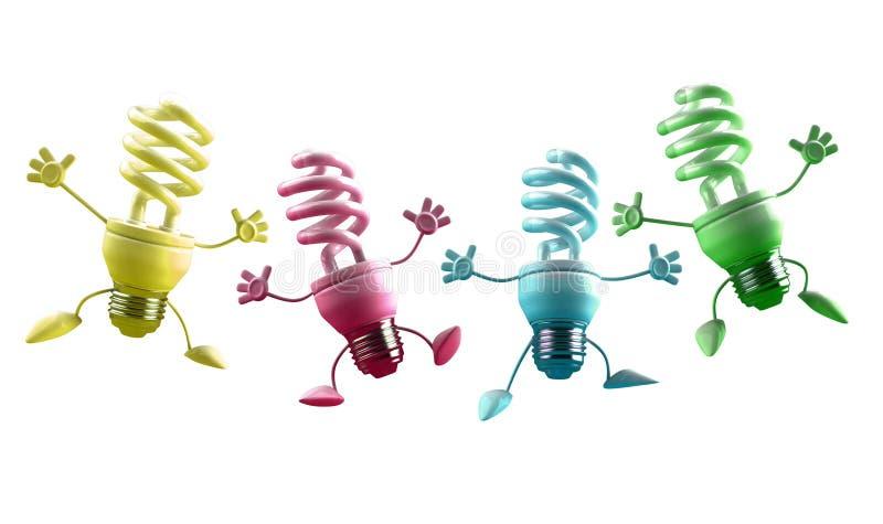 ενεργειακή lightbulbs αποταμίε&upsilon διανυσματική απεικόνιση