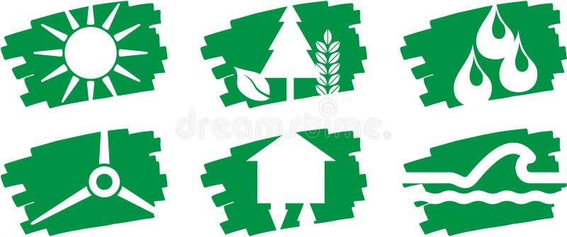 ενεργειακός δείκτης pictogramms &b ελεύθερη απεικόνιση δικαιώματος
