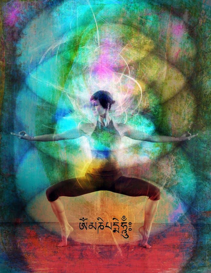 ενεργειακό πεδίο chakra διανυσματική απεικόνιση