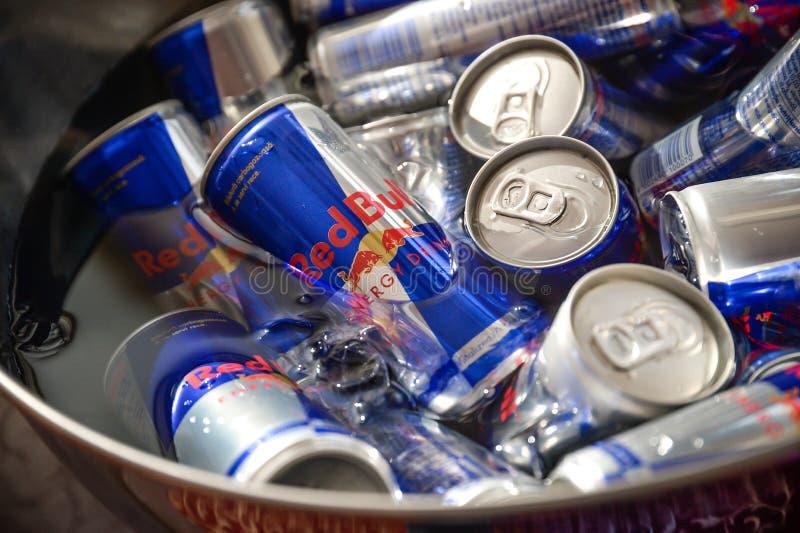 Ενεργειακό ποτό του Red Bull στοκ φωτογραφία