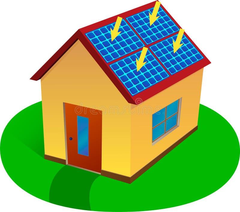 ενεργειακό σπίτι ηλιακό στοκ φωτογραφία με δικαίωμα ελεύθερης χρήσης