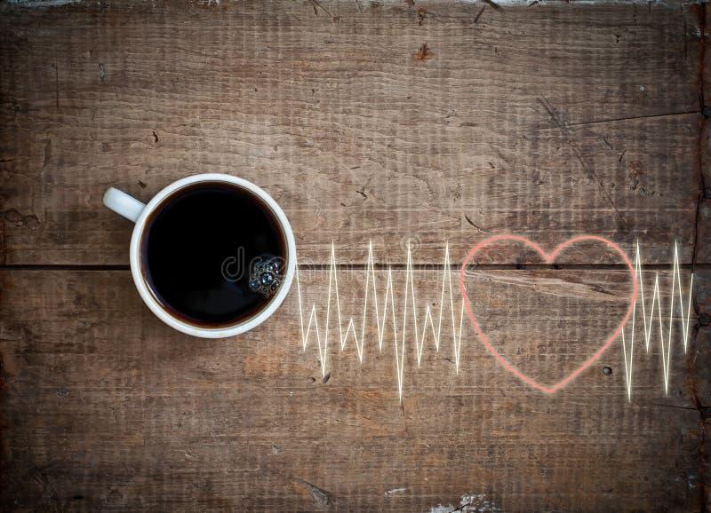 Ενεργειακό cheerfulness με τον καφέ στοκ εικόνες