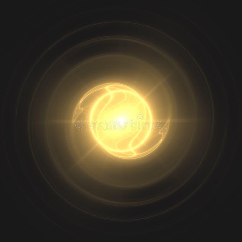 Ενεργειακό Chi περιστροφής φύσημα Ki | Fractal ταπετσαρία υποβάθρου τέχνης διανυσματική απεικόνιση