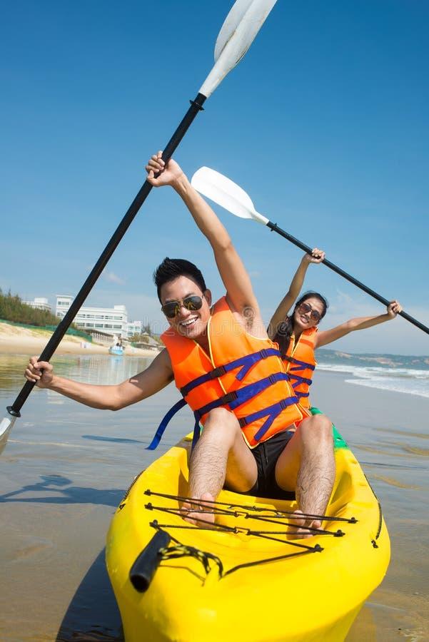 Ενεργητικά rowers στοκ φωτογραφία με δικαίωμα ελεύθερης χρήσης