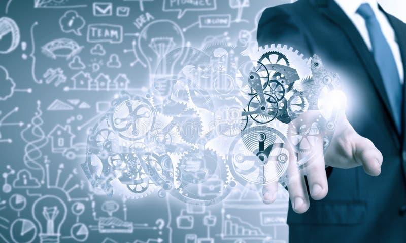 Ενεργοποιώντας μηχανισμός εργαλείων επιχειρηματιών στοκ εικόνες